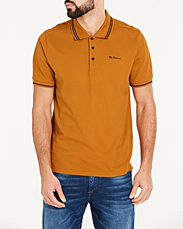 Ben Sherman Tipped Pique Polo Regular