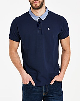 Peter Werth Woven Collar Polo Long