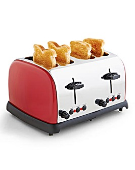 4 Slice Red Toaster