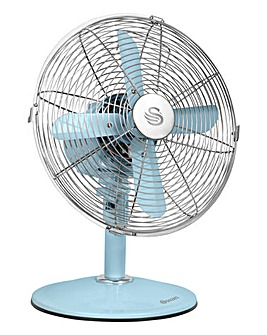 Swan Vintage Blue 12 Inch Desk Fan