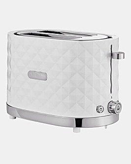 Diamond 2 Slice White Toaster