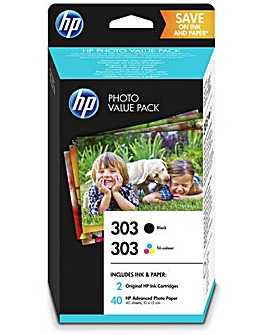 Ink Cartridge with Photo Paper Pack