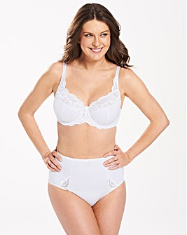 Ruby White Minimiser Bra