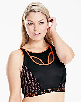 High Impact Active Mesh Sports Bra