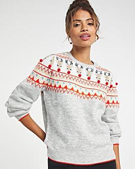 Christmas Reindeer Fairisle Jumper