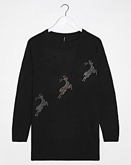 Sequin Reindeer Tunic