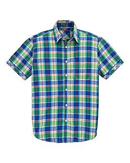 Southbay Short Sleeve Check Shirt Longer Length
