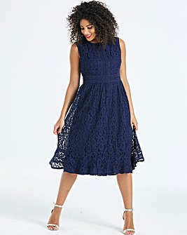 Little Mistress Midi Lace Dress