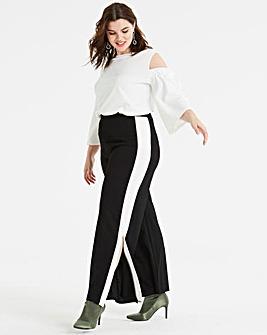 Pink Clove Stripe Split Legged Trousers