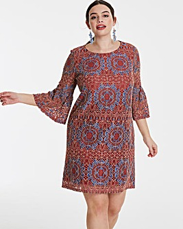 Lovedrobe Two Colour Lace Shift Dress