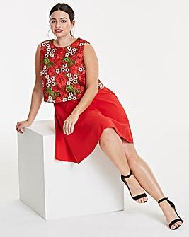 Lovedrobe Crochet Overlay Dress