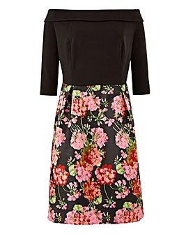 Lovedrobe Jacquard Skirt Bardot Dress