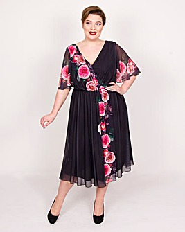 Scarlett & Jo Border Print Dress