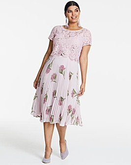 Oasis NHM Pleated Cape Back Midi Dress