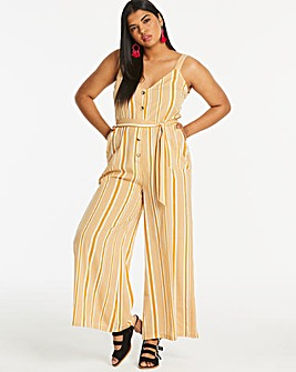 Neon Rose Stripe Button Front Romper