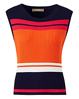 Oasis Stripe Knitted Tank Top