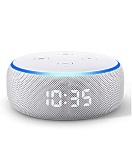 Amazon Echo Dot with Clock (3rd Gen)