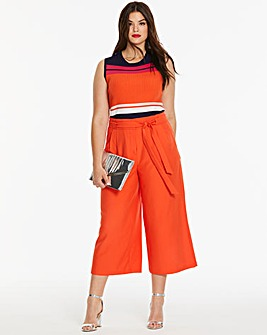 Oasis Colour Pop Crop Wide Leg Trousers