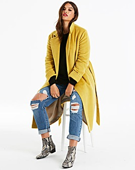 Helene Berman Belt Tie Longline Coat