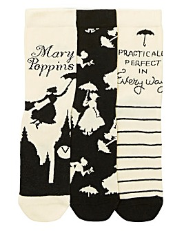 3 Pack Mothers Day Mary Poppins Socks