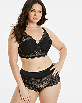 Lottie Lace Black Midi Bralette