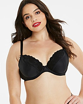 Pretty Secrets Ivy Lace Plunge Black Bra
