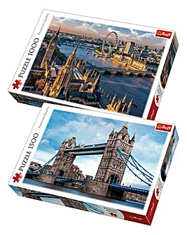 1500 & 1000 pc London Puzzles 2 Pack