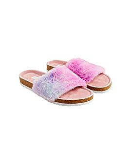 Symone Fluffy Slider Slippers