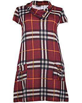 Izabel London Curve Check Tunic Dress