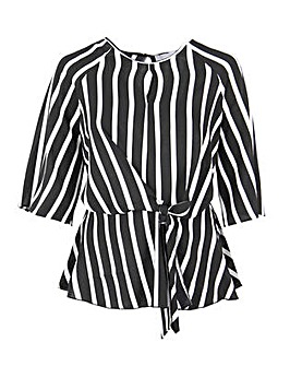 Lovedrobe GB Knot Front Stripe Top