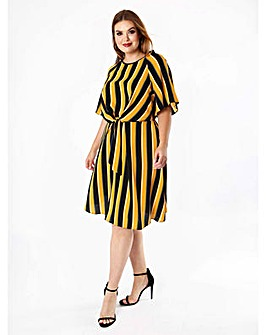 Lovedrobe GB Knot Front Stripe Dress