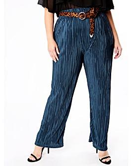 Lovedrobe GB Teal Plisse Trousers