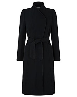 Monsoon Beatrice Belted Fit & Flare Coat