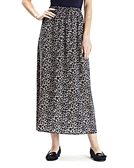 Print Maxi Skirt 35in
