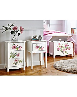Chinoiserie Bedside Unit 3 Drawer