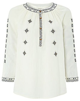 Monsoon Denali Embroidered Top