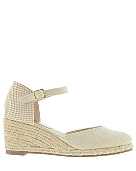 Monsoon Tabby Two Part Low Wedge