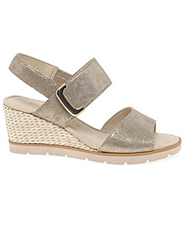 Gabor Porter Standard Fit Wedge Sandals