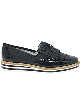 Rieker Fringe Standard Fit Slip On Shoes