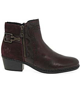 Rieker Hearth Standard Fit Ankle Boots