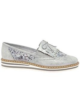 Rieker Fringe Standard Fit Slip On Shoes