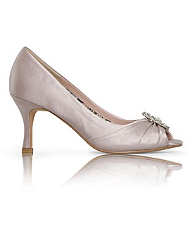 Perfect Gina Jewel Trim Peep Toe