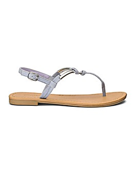 Vicky Rope Detail Sandals Extra Wide Fit