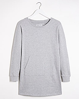 Grey Marl Sweatshirt Tunic