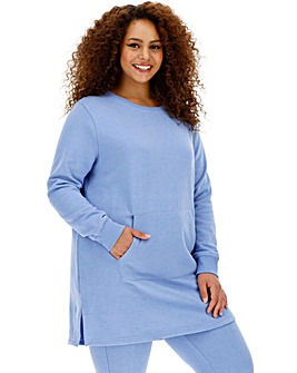 Denim Marl Sweatshirt Tunic