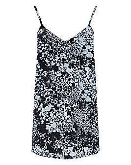Floral Shadow Print Strappy Cami