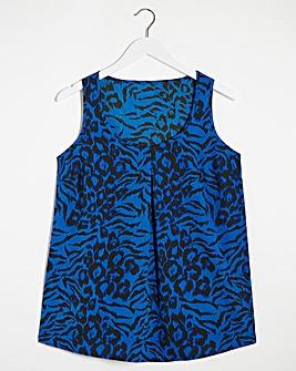 Animal Print Woven Vest