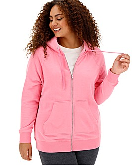 Pink Marl Zip Hoodie