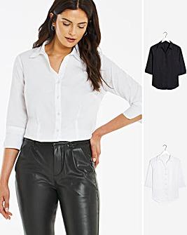 2 Pack Black/ White Shirt