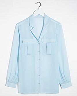 Sheer PJ Utility Shirt